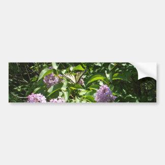 Adesivo De Para-choque Borboleta de Swallowtail no Lilac Bush