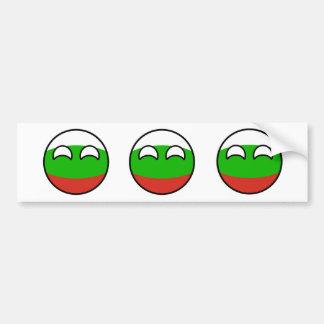 Adesivo De Para-choque Bulgária Geeky de tensão engraçada Countryball