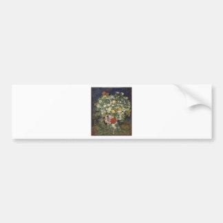 Adesivo De Para-choque Buquê das flores em um vaso