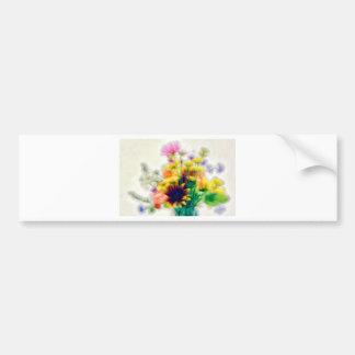 Adesivo De Para-choque Buquê do Wildflower do verão