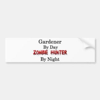 Adesivo De Para-choque Caçador do jardineiro/zombi