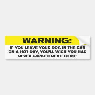 Adesivo De Para-choque Cães em carros quentes - autocolante no vidro