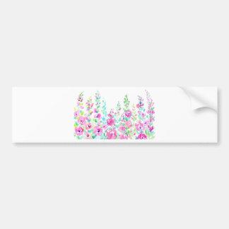 Adesivo De Para-choque Cama floral abstrata da aguarela