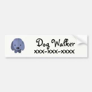 Adesivo De Para-choque Caminhante do cão