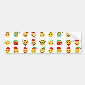 Adesivo De Para-choque caras felizes do emoji do xmas