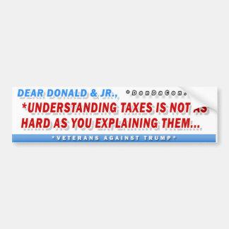 Adesivo De Para-choque Caros impostos de Donald