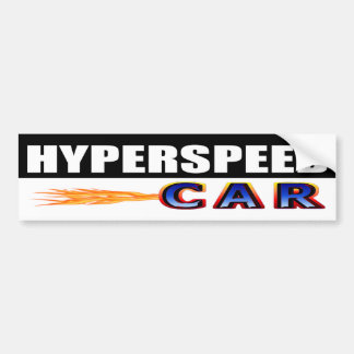 Adesivo De Para-choque Carro Hyperspeed
