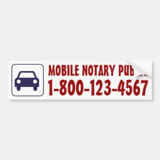 Adesivo De Para-choque Carro móvel do notário com número de telefone
