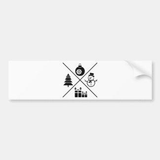 Adesivo De Para-choque Cartão do X-MAS Chrsitmas