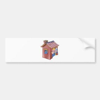 Adesivo De Para-choque Casa pequena da palha do conto de fadas de três