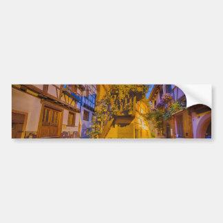 Adesivo De Para-choque Casas suportadas na vila de Eguisheim