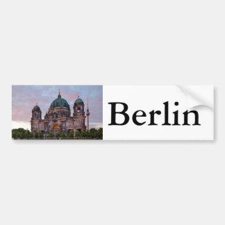 Adesivo De Para-choque Catedral de Berlim com torre e Lustgar da
