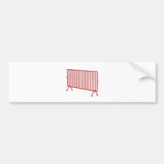 Adesivo De Para-choque Cerca móvel vermelha
