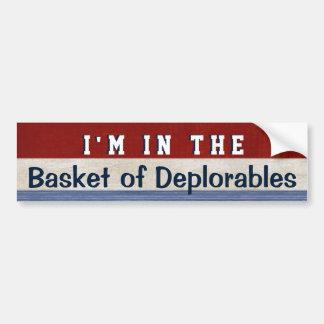 Adesivo De Para-choque Cesta de citações engraçadas de Hillary da eleição