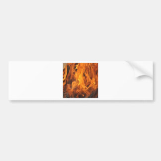 Adesivo De Para-choque Chamas - demasiado quentes a segurar