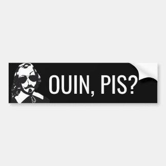 Adesivo De Para-choque Champlain Hipster Québec ouin, pis? - O VOSSO