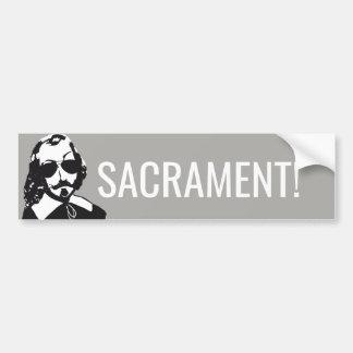 Adesivo De Para-choque Champlain Hipster Quebeque sacrament - o VOSSO