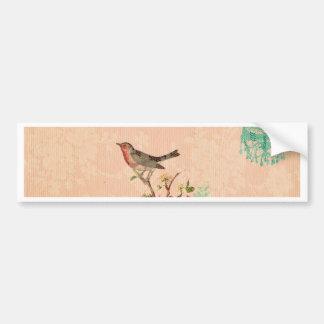 Adesivo De Para-choque Chique, pássaro, borboleta, laço, floral, país,
