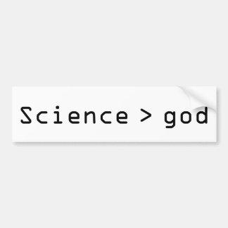 Adesivo De Para-choque Ciência > autocolante no vidro traseiro do deus