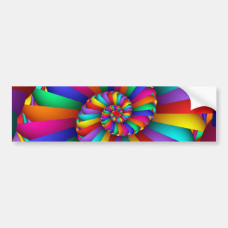 Adesivo De Para-choque Cissoid da arte fina abstrata do Fractal de