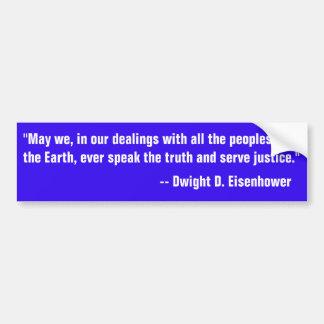 Adesivo De Para-choque Citações de Eisenhower em falar a verdade