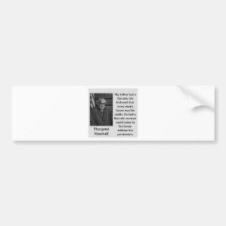 Adesivo De Para-choque Citações de Thurgood Marshall