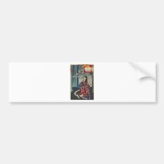 Adesivo De Para-choque Clássico legal da arte japonesa da senhora Japão