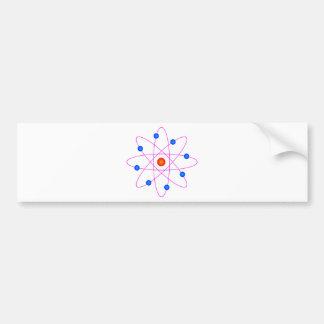 Adesivo De Para-choque clipart modelo do vetor do átomo