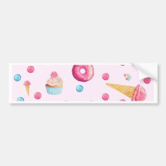 Adesivo De Para-choque Colagem cor-de-rosa da rosquinha