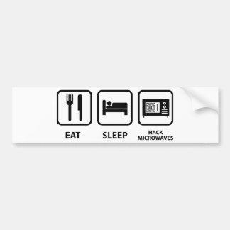 Adesivo De Para-choque Coma microondas do corte do sono