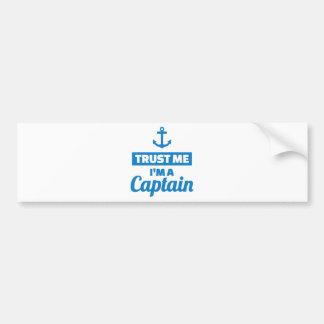 Adesivo De Para-choque Confie que eu mim é um capitão