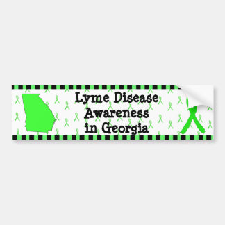 Adesivo De Para-choque Consciência da doença de Lyme no autocolante no