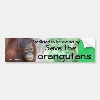 Adesivo De Para-choque Conservação animal dos animais selvagens