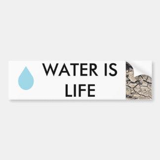 Adesivo De Para-choque Conservação de água - a água é vida