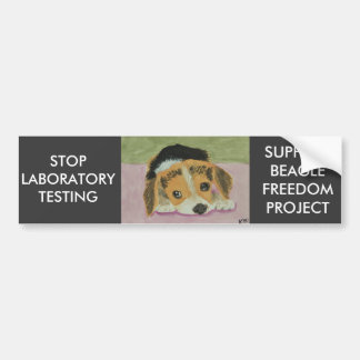 Adesivo De Para-choque Contra o teste animal Bumpersticker