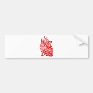 Adesivo De Para-choque Corações do coração