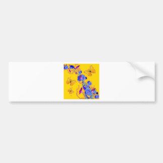 Adesivo De Para-choque corriolas do azul das borboletas do ouro