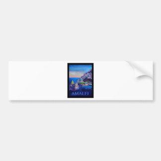 Adesivo De Para-choque Costa retro Italia de Amalfi do poster