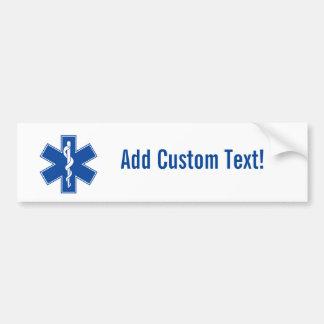 Adesivo De Para-choque Costume do símbolo do paramédico de EMT