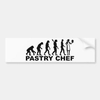 Adesivo De Para-choque Cozinheiro chefe de pastelaria da evolução