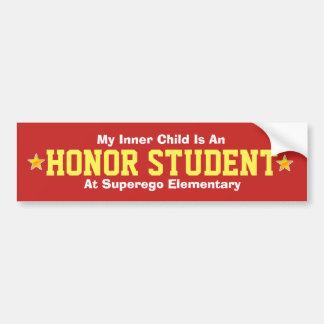 Adesivo De Para-choque Criança/estudante internos da honra - autocolante