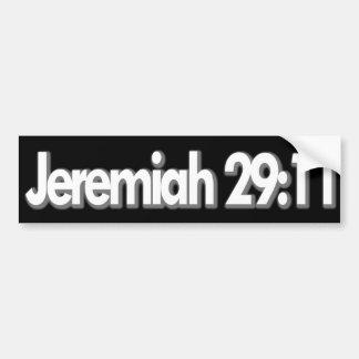 Adesivo De Para-choque Cristão do 29:11 de Jeremiah