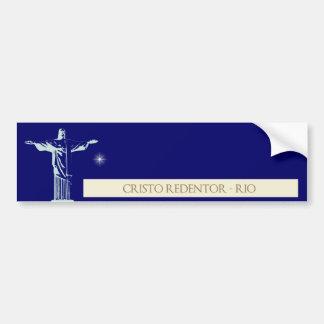 Adesivo De Para-choque Cristo Rio de Janeiro
