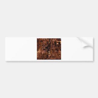 Adesivo De Para-choque crumble marrom da rocha