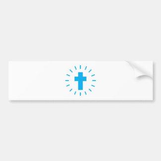 Adesivo De Para-choque Cruz do Jesus Cristo