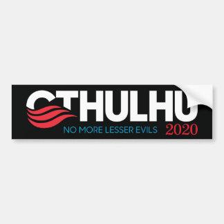 Adesivo De Para-choque Cthulhu para o presidente 2020 mais poucos mau