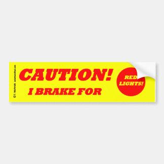 Adesivo De Para-choque CUIDADO de condução seguro defensivo da