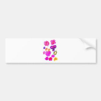 Adesivo De Para-choque Cursos coloridos 2 das flores