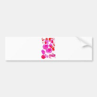 Adesivo De Para-choque Cursos coloridos 3 das flores