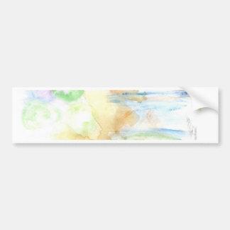 Adesivo De Para-choque Cursos coloridos da pintura